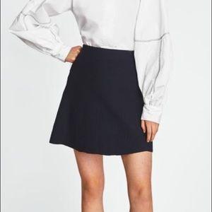 Zara knit black a-line skirt stretchy xsmall
